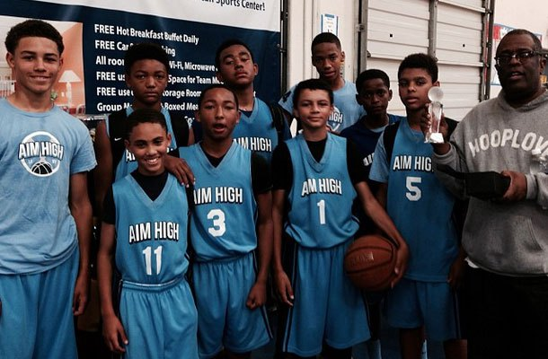 Aim High AAU 13u with coach Vincent Smith