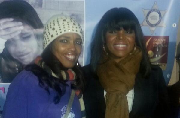 Areva Martin of the Special Needs Network and Compton Mayor Aja Brown (Najee Ali/November 21, 2013)