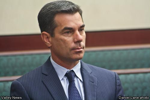 Daniel Lane photo - Former Murrieta Mayor and newly elected council member Alan William Long, 44, entered a plea of \'Not Guilty\' on Tuesday, December 9th in Murrieta during his arraignment held at the Southwest Justice Center.