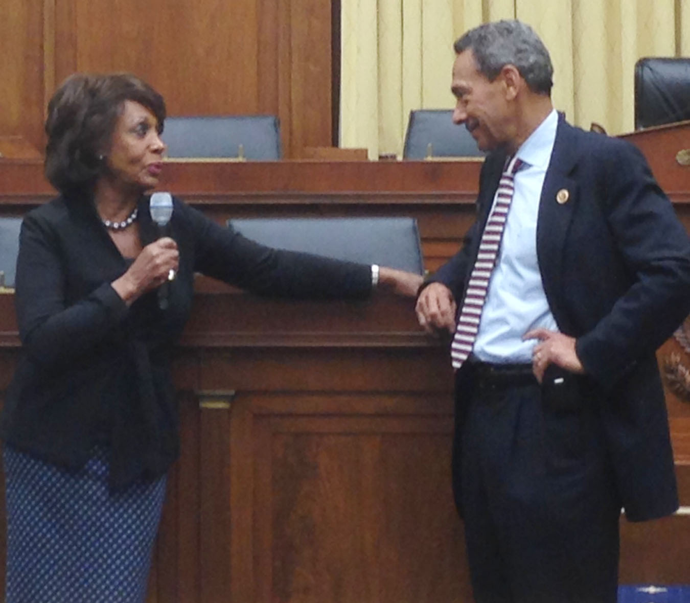 Waters with current FHFA Chair Mel Watt.