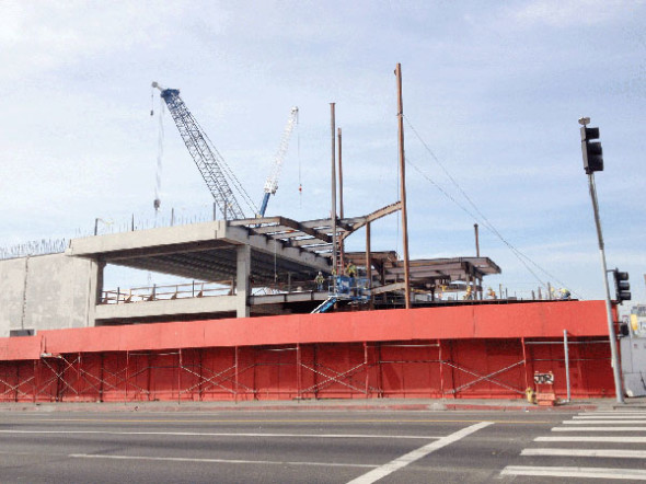 Target, well under construction. Photo: Park LaBrea News.