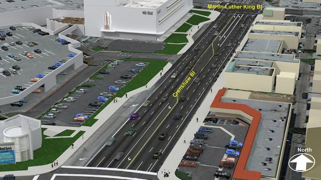 Crenshaw/LAX MLK Renderings. Graphic courtesy Metro.