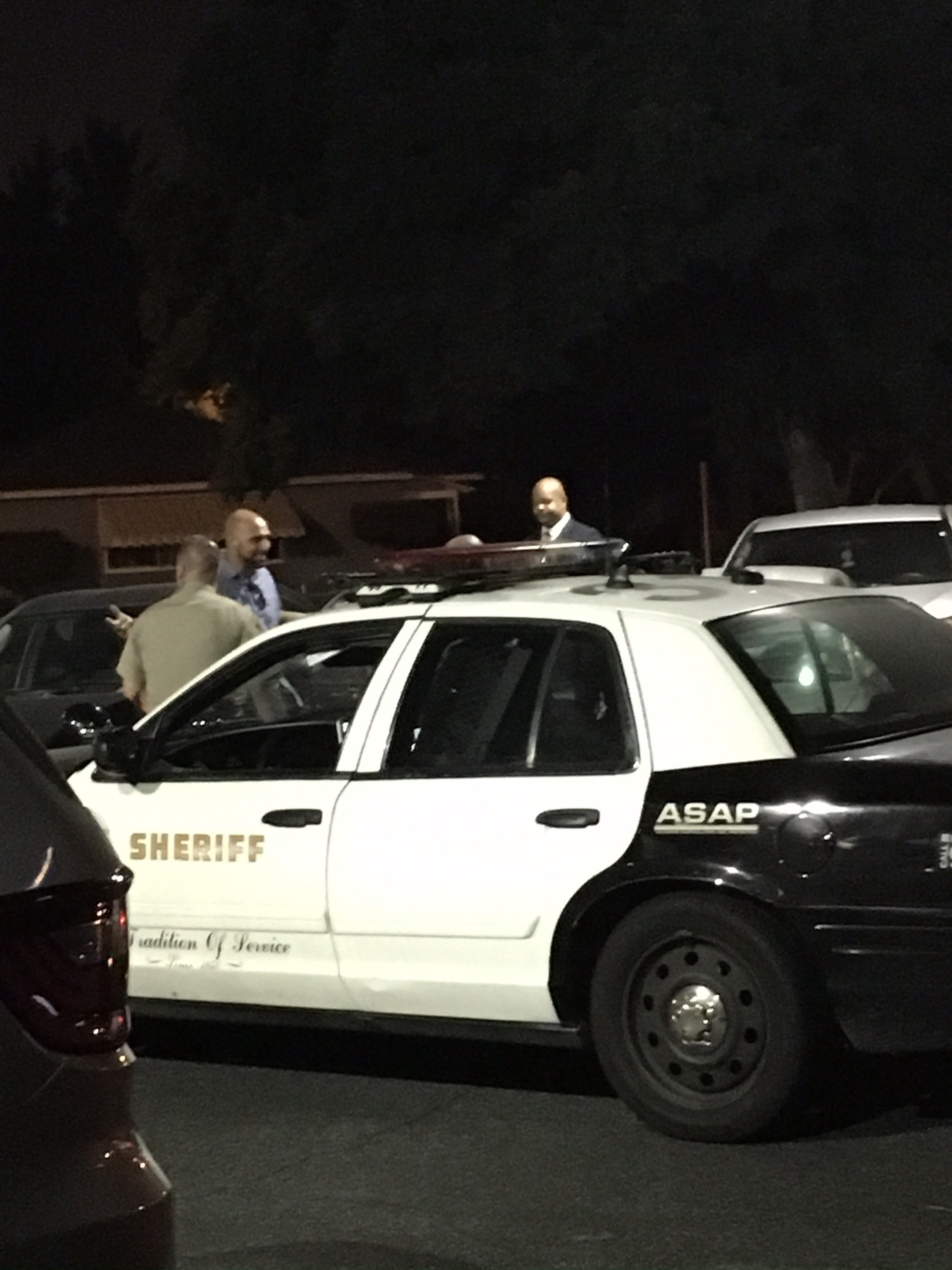 Van Brown being questioned by L.A. County Sheriff's.