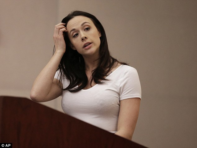 Porn stars will not have to wear condoms after adult actors pleaded with lawmakers. Chanel Preston (pictured), Adult Performer's Advocacy Committee President, speaks before the Occupational Safety & Health Standards Board that overruled the proposal
