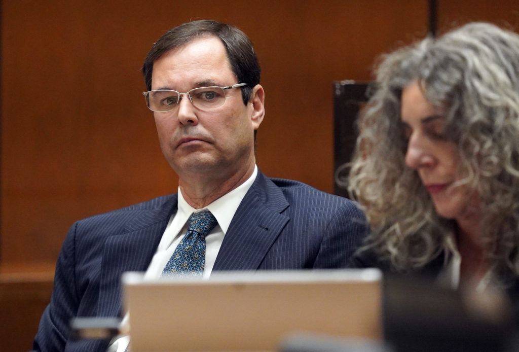 Former Centinela Valley Union High School District superintendent Jose Fernandez listens during his preliminary hearing in Los Angeles on Monday, Jan. 28, 2019. Fernandez was arrested in August 2017 on a dozen felony counts, including embezzlement by a public official, misappropriation of public funds, grand theft and conflict of interest. If convicted, Fernandez could be sentenced to up to 15 years in state prison. (Photo by Scott Varley, Daily Breeze/SCNG)