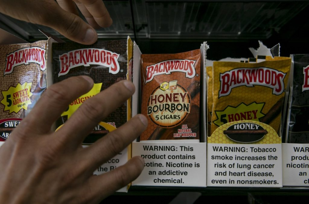 Cigars with flavored wrappers at a liquor store in Berkeley. Photo by Anne Wernikoff for CalMatters
